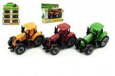 Teddies Traktor kov/plast 10cm asst 2 barvy v krabičce volný chod 12ks v boxu