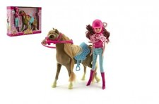 Teddies Kůň + panenka žokejka plast v krabici 34x27x7cm