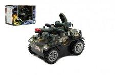 Teddies Tank narážecí plast 13cm na baterie se zvukem se světlem v krabičce