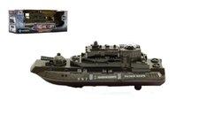 Teddies Ponorka vojenská narážecí plast 20cm na baterie se světlem se zvukem v krabičce