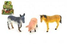 Teddies Zvířátka farma plast 12cm asst 18ks v boxu
