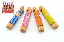 Teddies Píšťalka dřevo 14x2,5x2,5cm asst 4 druhy