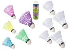 Teddies Míčky/Košíčky na badminton plast 5ks v tubě, 2 barvy