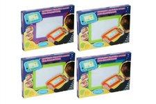 Teddies Magnetická tabulka kreslící s doplňky asst 4 barvy  v krabici 33x24cm