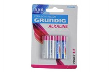Teddies Baterie Grundig LR03/AAA 1,5 V alkaline 4ks na kartě