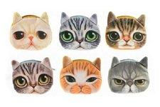 Teddies Peněženka kočka na zip textil 13cm asst 6 druhů