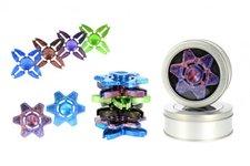 Teddies Fidget Spinner hliník asst 4 barvy v plechové krabičce 9x9x2cm