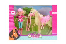 Teddies Kůň + panenka žokejka plast v krabici 26,5x20x7cm