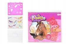 "Teddies Kreativní blok s doplňky a šablonami ""My Pony"" 26cm Sketch Book"