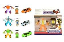 Teddies Transformer auto/robot mini plast/kov 8cm v krabičce