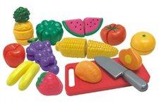 Teddies Ovoce a zelenina krájecí s náčiním plast 25ks v krabici 40x27x6cm