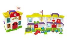 Teddies Domeček škola s doplňky plast 15ks v krabici 64x33x13cm