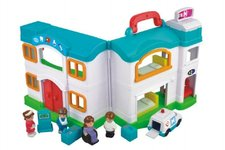 Teddies Nemocnice domeček s doplňky plast 12ks v krabici 64x33x12cm