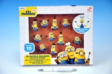 Teddies Puzzle Hlavolam 3D Mimoni 10ks gumové postavičky v krabici