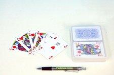 Canasta společenská hra karty v plastové krabičce