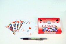 Canasta společenská hra karty v papírové krabičce