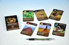 Kvarteto Afrika Safari společenská hra - karty 32 kartiček v krabičce