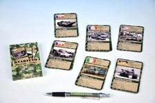 Kvarteto Military Tanky společenská hra - karty 32 kartiček v krabičce