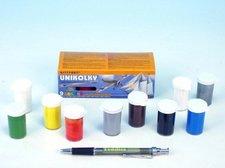 Teddies Unikolky modelářské barvy sada 9 barev + matný lak zdarma v krabičce