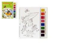 Akim Omalovánky Krtek s vodovými barvami a štětcem