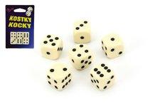 Hydrodata Hrací kostky společenská hra 1,6cm 6ks na kartě