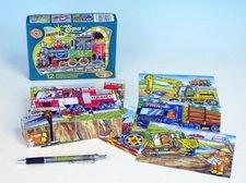 Kostky kubus Dopravní prostředky dřevo 12ks