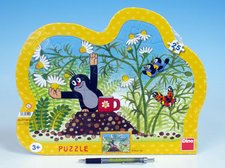 Dino Puzzle deskové Krtek s hrníčkem kontura 36x28cm 25 dílků