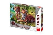 Dino Puzzle Tygři 12 skrytých detailů 1000 dílků 66x47cm