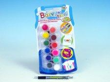 SMT Creatoys Barvy na textil + štětec 12ks na kartě