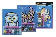SMT Creatoys Flitrový obrázek A5 asst 3 druhy na kartě 14x22cm 18ks v boxu