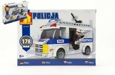 Stavebnice Dromader Policie Auto 23415 178ks v krabici 25,5x18,5x4,5cm