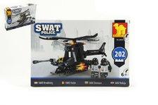 Dromader Stavebnice SWAT Policie Vrtulník 202ks plast