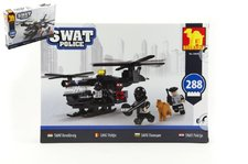 Dromader Stavebnice SWAT Policie Vrtulník 288ks plast