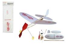 Igralet Letadlo Komár model na gumu polystyren/dřevo 38x31cm v sáčku