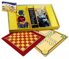 Detoa Soubor her 7 společenská hra dřevo v krabici 37x22x4cm