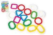 Profibaby Řetěz/zábrana tvary plast 7cm 16ks v sáčku 3m+