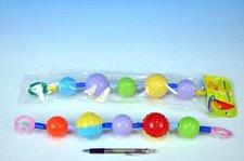 Profibaby Řetěz/zábrana barevné koule plast 40cm asst v sáčku 0m+