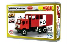 Vista Stavebnice Monti 12.2 Tatra 815 Hasiči Požární ochrana 1:48 v krabici 22x15x6cm