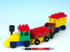 LORI Stavebnice LORI 6 vlak+ 3 vagónky plast v sáčku