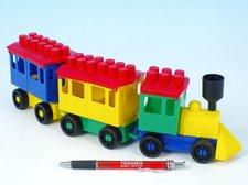 LORI Stavebnice LORI 7 vlak + 2 vagónky plast v sáčku