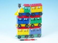 LORI Stavebnice LORI 8 vlak + 5 vagónků plast v sáčku