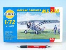 Směr Model Morane Saulnier MS 230 9,4x14,6cm v krabici 25x14,5x4,5cm