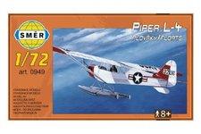 Směr Model Piper L-4 plováky 1:72 14,7x9,3cm v krabici 25x14,5x4,5cm