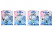 Wiky Sada princezna korunka+náhrdelník+náušnice plast asst 4 druhy na kartě 18x25cm 3