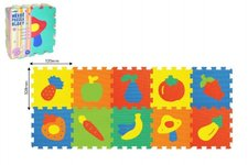 Wiky Pěnové puzzle Ovoce 30x30cm asst 2 druhy 10ks