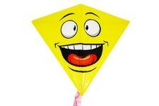 Wiky Drak létající smajlík plast 68x73cm v sáčku
