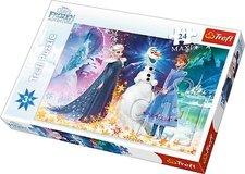 Puzzle 24 maxi  - Ve světle hvězd / Ledové království