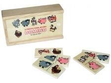 Wiky Domino zvířátka pana Müllera společenská hra dřevo 28ks v dřevěné krabičce