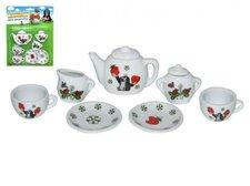 Porcelánové nádobí pro panenky - Krtek na kartě