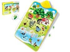 Wiky Elektronická hrací podložka Krtek a zvířátka 42x61cm v krabici